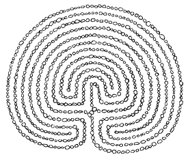 Classical 11 circuit labyrinth
